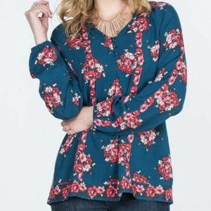 Matilda Jane Make Believe So Vivid blouse blue L